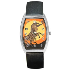 Embracing The Moon Copy Tonneau Leather Watch