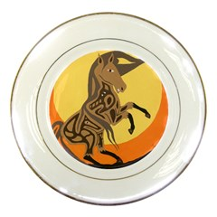 Embracing The Moon Copy Porcelain Display Plate