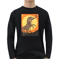 Embracing The Moon Copy Men s Long Sleeve T-shirt (Dark Colored)
