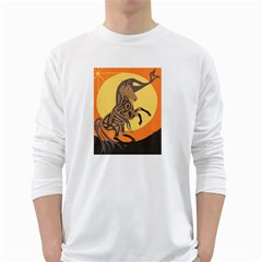 Embracing The Moon Copy Men s Long Sleeve T-shirt (White)