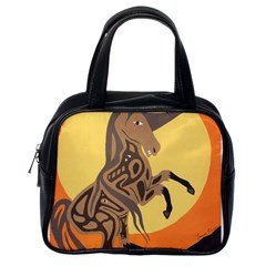 Embracing The Moon Copy Classic Handbag (one Side)