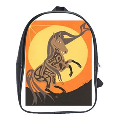 Embracing The Moon Copy School Bag (Large)
