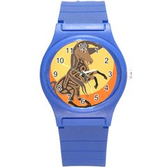 Embracing The Moon Copy Plastic Sport Watch (small)