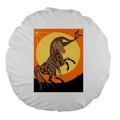 Embracing The Moon Copy 18  Premium Round Cushion