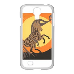 Embracing The Moon Copy Samsung GALAXY S4 I9500/ I9505 Case (White)