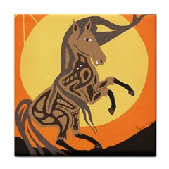 Embracing The Moon Copy Ceramic Tile