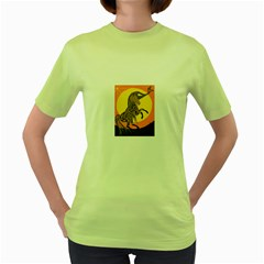 Embracing The Moon Copy Women s T-shirt (Green)
