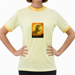 Embracing The Moon Copy Women s Ringer T-shirt (Colored)