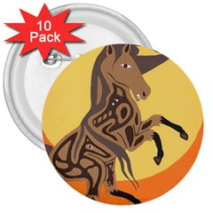 Embracing The Moon Copy 3  Button (10 Pack)