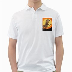 Embracing The Moon Copy Men s Polo Shirt (White)