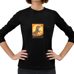 Embracing The Moon Copy Women s Long Sleeve T Shirt (dark Colored)