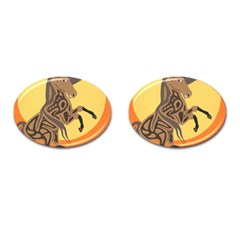 Embracing The Moon Copy Cufflinks (Oval)