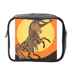 Embracing The Moon Copy Mini Travel Toiletry Bag (Two Sides)