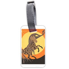 Embracing The Moon Copy Luggage Tag (Two Sides)