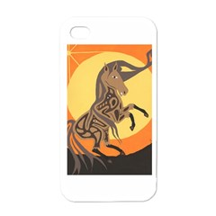 Embracing The Moon Copy Apple iPhone 4 Case (White)