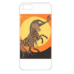 Embracing The Moon Copy Apple Iphone 5 Seamless Case (white)