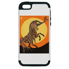 Embracing The Moon Copy Apple iPhone 5 Hardshell Case (PC+Silicone)
