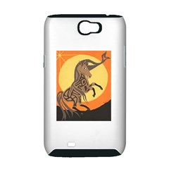 Embracing The Moon Copy Samsung Galaxy Note 2 Hardshell Case (PC+Silicone)