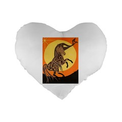 Embracing The Moon Copy 16  Premium Heart Shape Cushion