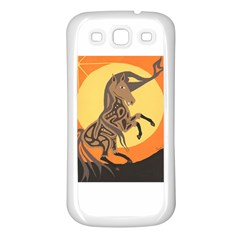 Embracing The Moon Copy Samsung Galaxy S3 Back Case (White)