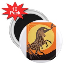 Embracing The Moon Copy 2.25  Button Magnet (10 pack)