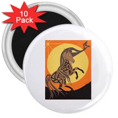 Embracing The Moon Copy 3  Button Magnet (10 Pack)
