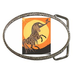 Embracing The Moon Copy Belt Buckle (oval)