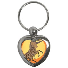 Embracing The Moon Copy Key Chain (Heart)