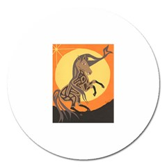 Embracing The Moon Copy Magnet 5  (Round)