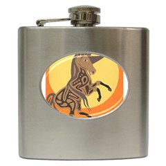 Embracing The Moon Copy Hip Flask