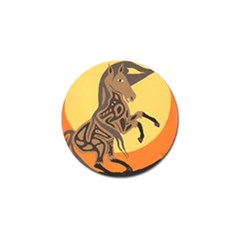 Embracing The Moon Copy Golf Ball Marker