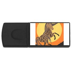 Embracing The Moon Copy 1GB USB Flash Drive (Rectangle)