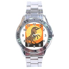 Embracing The Moon Copy Stainless Steel Watch