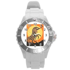 Embracing The Moon Copy Plastic Sport Watch (large)