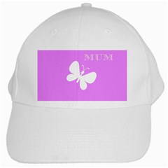 Mom White Baseball Cap