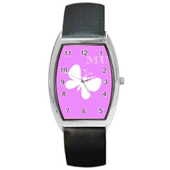 Mom Tonneau Leather Watch