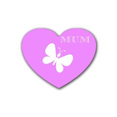Mom Drink Coasters 4 Pack (Heart)