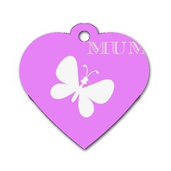 Mom Dog Tag Heart (two Sided)