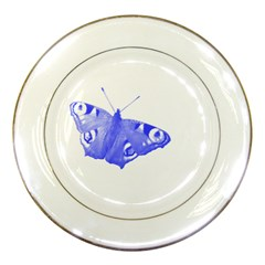 Decorative Blue Butterfly Porcelain Display Plate