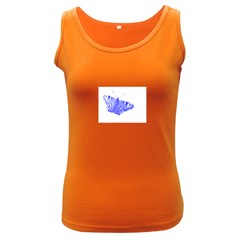 Decorative Blue Butterfly Women s Tank Top (dark Colored)