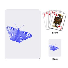 Decorative Blue Butterfly Playing Cards Single Design