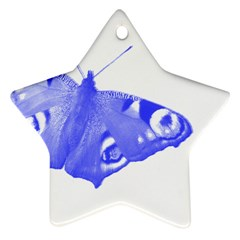 Decorative Blue Butterfly Star Ornament (Two Sides)