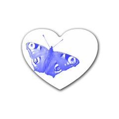 Decorative Blue Butterfly Drink Coasters 4 Pack (heart)
