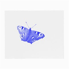 Decorative Blue Butterfly Glasses Cloth (small, Two Sided)