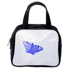 Decorative Blue Butterfly Classic Handbag (one Side)