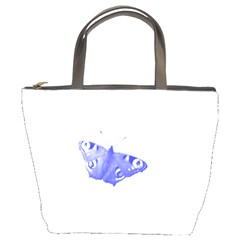 Decorative Blue Butterfly Bucket Handbag