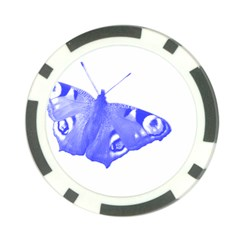 Decorative Blue Butterfly Poker Chip (10 Pack)