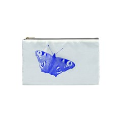 Decorative Blue Butterfly Cosmetic Bag (Small)