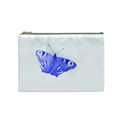Decorative Blue Butterfly Cosmetic Bag (medium)