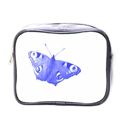 Decorative Blue Butterfly Mini Travel Toiletry Bag (one Side)